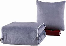 GYP Solid Color Auto Home Kissen Steppdecke Dual Use Sofa Kissen Office Fold Kissen schützen die Taille Lendenwirbel Bett Supplies Rückenlehne kaufen ( Farbe : #2 , größe : 110*150CM )
