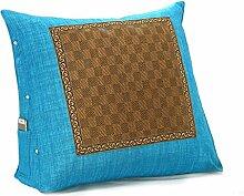 GYP Sommer Schlafmatte Kissen, Dreieck Kissen Bett Kissen Büro Taille Bett zurück Kissen Nackenkissen Kissen Sofa Kissen Rückenlehne 45-60cm kaufen ( Farbe : Blau , größe : 45*45*18CM )