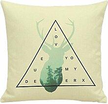 Gysad Bettbezug Pillow Muster Tierchen Dekokissen