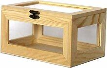 GYZS storage box Aufbewahrungsbox Holzkiste Glas