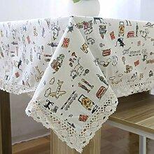 GZ-tablecloth Tischdecke aus Baumwolle und Leinen