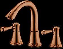 GZD Alle Bronze Das Neue High End LuxuriöS Heiß Und Kalt Wasserhahn Bad Badeschrank Drei LöCher Becken Waschbecken FüHrende F