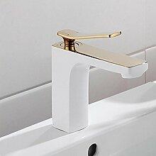 GZD alle kupferne Gold geröstete weiße Farbe einzigen Griff einzigen Waschbecken Waschbecken Waschbecken Wasserhahn