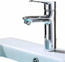GZD High-End-Mode Waschbecken Wasserhahn All-Kupfer verchromt Bad Waschbecken Hot und Kaltwasser mischten Wasserhahn