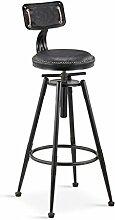 GZD Hocker Retro Küche Hocker mit Metall Beine High Hocker Bar Hocker PU Seat Bar, 360 Grad schwenkbar Kann auf und ab und festen Stuhl, Höhe 68-90cm / 98-120cm , 7