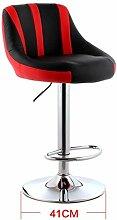 GZD Hocker StuhlHigh Stool Moderne Küche Hocker mit Metall Beine Bar Hocker PU Seat Frühstück Bar, 360 Grad Swivel kann aufheben und unten, Höhe 83-103cm , 19