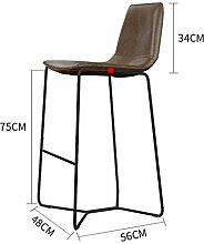 GZD Hockersitzbein mit Metall Retro Hocker Bar Sitzsystem Sitz, Küchenhocker Theke Bar Frühstücksbuffet Bar, Höhe 45 cm / 55 cm / 65 cm / 75 cm / 85 cm, B, 75cm