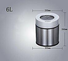 GZD Lazy Spirale Vollautomatisch mit Abdeckung Freies Pedestal Smart Induction Wiederaufladbare Trash Housewares Küche Küche Wohnzimmer , induction button 6l stainless steel