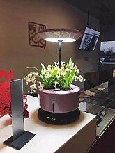 GZD Mikro wachsen Licht Garten automatische Pflanze Wachstum Maschine intelligente Pflanzmaschine vergossen Soilless Anbau Anlage Kontrolle Leistung 28W Größe 35-40CM , pink