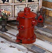 GZD Retro Eisen Feuer Hydrant Modellierung Pedal Mülleimer kreative home bar Milch Tee Shop personalisierte Dekoration Dekoration , 42 high *25 diameter