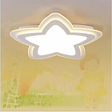 GZEDG Fern Versprechen Dimmen LED-Acryl-Deckenleuchte ultra-dünnen Jungen und Mädchen Kinderzimmer Schlafzimmerlampe kreative Karikatur Lampe D52 * H4 (cm) ( Color : Weiß )