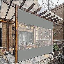 GZHENH Wasserdichter Terrassenvorhang, Klarer