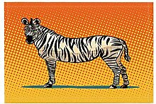 GzHQ Afrikanische Tier Dekor Zebra schwarzen
