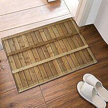 GzHQ Einfache Scheune Plank Bad Teppiche
