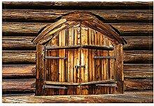 GzHQ Rustikales Bauernhaus Holz Bad Teppiche für