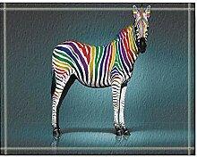 GzHQ Tier Pferd Dekor Digitaldruck Zebra Bad