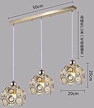GZLIGHT Hängeleuchte Kronleuchter Deckenlampe Led Crystal Dekoration im Restaurant moderne Schlafzimmer Wohnzimmer Halle Gold Lange