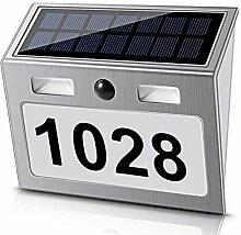 GZMUS 7 LED Solar Beleuchtete Hausnummer
