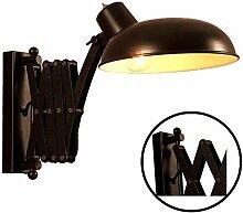 GZMUS Vintage Industrial Wandlampe Einstellbare