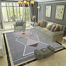 GZP Innenteppich Bereich Teppich Moderne Geometrie Wohnzimmer Schlafzimmer Nachttisch Teppich Tee Tisch Teppich Teppich Maschine waschbar Decke (Farbe : #2, größe : 180*280cm)