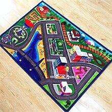 GZP Innenteppich Kinder Car Track Teppiche Kinder