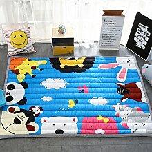 GZP Innenteppich Kinder-Karikatur-Matten, Rechteck Dicker Schlafzimmer Rutschfester Teppich Decke (Farbe : E, größe : 150*200cm)