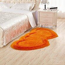 GZP Innenteppich Liebe Elastische Helle Draht Seide Teppiche Doppelherz Matten Dicken Matten Teppich Teppiche Bodenmatten Für Wohnzimmer Nachttisch Decke (Farbe : #1, größe : 80*160cm)