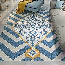 GZP Innenteppich Wohnzimmer Teppich moderne geometrische Teppich Schlafzimmer Nachttisch Teppich - rutschfest - waschbar, Maschinenwäsche Decke (Farbe : 4#, größe : 120*160cm)