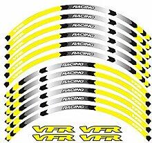 GZSC 7 Art-Motorrad-Rad-Reifen Rim Aufkleber