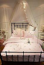 GZXCPC Rosa Bettwäsche Set Heimtextilien Bettbezug Set Ultra Soft Microfiber (4er 1 Duvet Cover 1 Flat Sheet 2 Kissenbezüge King Size)