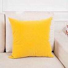 GZXCPC Sofa pillow with core cushions set bed head plain business series office car pure color waist pillow set (48 * 48cm with 500 grams core) , 009