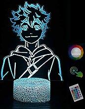 H·aikyu·u!! Hin·ata Sh·OYO 3D Nachtlicht Led