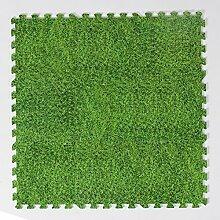 H Cadeau Bunt Puzzlematte Schaumstoff Puzzle Matte Kinder Spielteppich Spielmatte Baby krabbeln Boden Schlafzimmer Yoga Turnhalle 30*30*1cm 9Teile (Rasen)