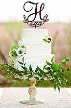 H Cake Topper Datum Hochzeit Cake Topper H Cake