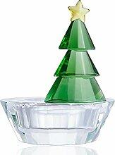 H&D Classic Crystal Teelichthalter Grün