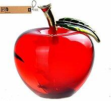 H&D Kristall Apfel Briefbeschwerer Hochzeit Zuhause Dekoration, ro