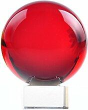 H&D Rot Glaskugel Kristallkugel Fotografie mit