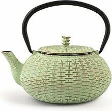 H&H 748691 Teekanne aus Gusseisen und Emaille,