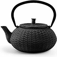 H&H 748707 Teekanne aus Gusseisen und Emaille,