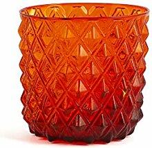 H&H 835469 Murano Gläser, Glas, Rot, 6 Stück