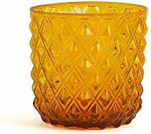 H&H 835476 Murano Gläser, Glas, Orange, 6 Stück