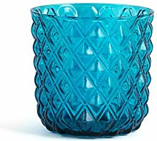H&H 835490 Murano Gläser, Glas, Blau, 6 Stück