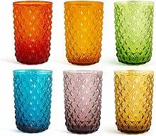 H&H 835520 Murano Gläser-Set, Glas, verschiedene