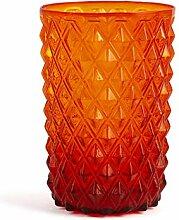 H&H 835537 Murano Gläser, Glas, Rot, 6 Stück