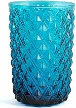 H&H 835568 Murano Gläser, Glas, Blau, 6 Stück