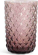 H&H 835575 Murano Gläser, Glas, Lila, 6 Stück