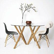 h+h furniture Mika Tischplatte ESG-Glas rund - ø