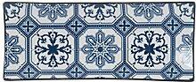 H+H H & H Blue Stamp Teller, Porzellan New Bone