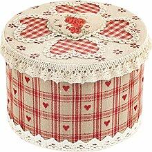 H & H Herz rot Vorratsdose rund, Blech, Rot, 15x 11x 15cm