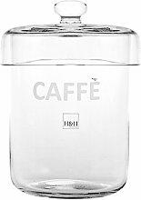 H&H Kaffeedose, Glas, Transparen